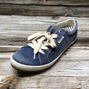 Taos Star Blue Wash Canvas Sneakers Women 7
